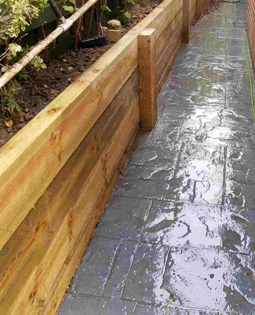 Timber Sleeper Retaining Wall Company Contractors