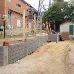 building a concrete retaining wall